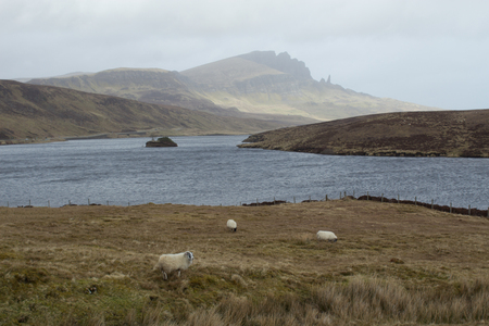 Loch Leathan and Old man of Storr - Isle of Skye Reklamní fotografie