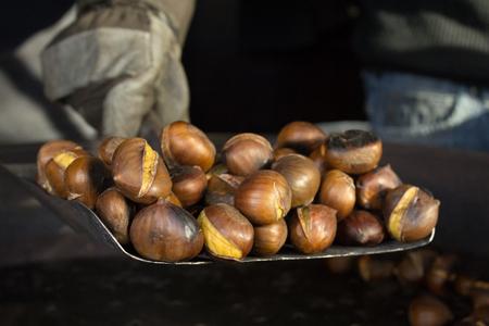 Chestnut Vendor Stock fotó