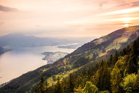 Sunset in Mountain Banco de Imagens