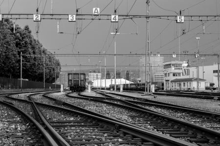 Cargo Train Yard Stock fotó