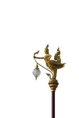 Native Thai style angel lantern pillar  photo