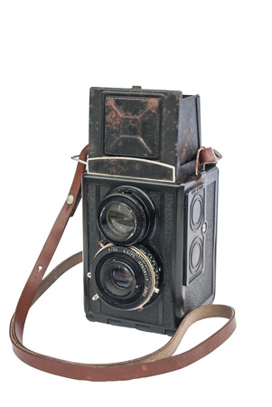 medium body: Old medium format twin lens reflex camera body