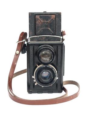 Old medium format twin lens reflex camera body photo