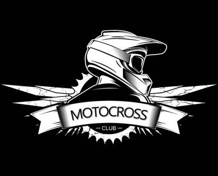 Extreme sport logo design. Motocross Downhill Mountain Biking logo template.