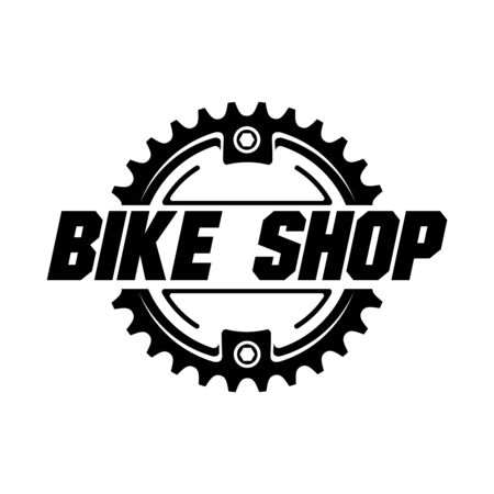 Bicycle shop, service, bike park logo design. Vector