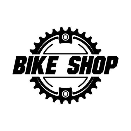 Magasin de vélos, service, création de logo de parc à vélos. Vecteur