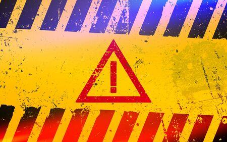 Hazard warning attention sign. Dangerous area and hazard. Stock fotó - 138085455
