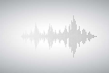 Voice sound music shape. Audio wave from smal dost. Waves of the equalizer. EQ Vector Illustration.