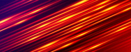 Wide gaming background. Glowing line. Light and stripes moving fast.