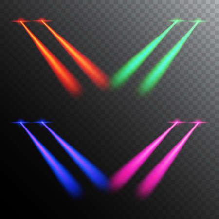 Laser eyes effect issolated on transparent background. Illustration