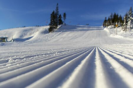 ski track in the mountains Фото со стока