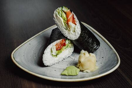 japanese menu,seafood, sushi set, rolls set.
