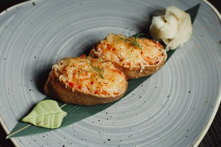 japanese menu,seafood, sushi set, rolls set. Stock fotó