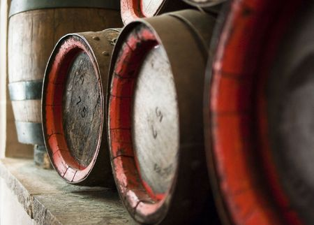 vats: old barrels of beer