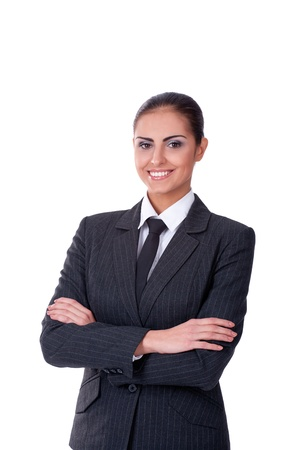 Young sucsessful businesswoman looking on camera and smiling Stock Photo - 11432233