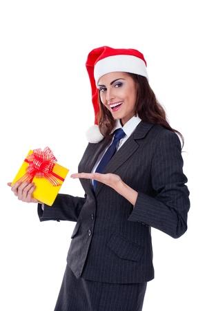 businesswoman wearing a santa Stock Photo - 11432235