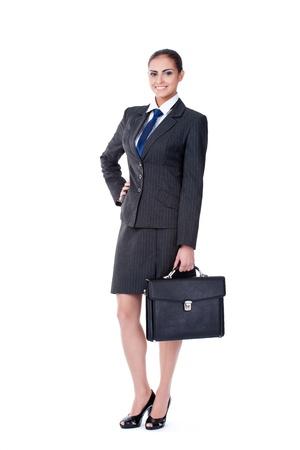 businesswoman suit: businesswoman with briefcase
