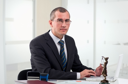 Lawyer or notary public at contemporary office Stock Photo - 12522093