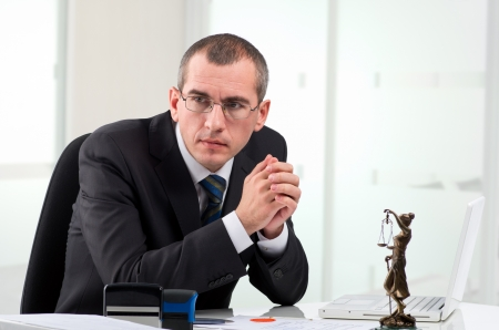 Lawyer or notary public at contemporary office Stock Photo