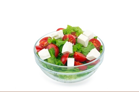 green salad with cherry tomatoes in glass cup Stock Photo - 14255703