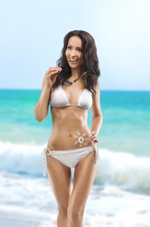 Jovem, mulher sexy com