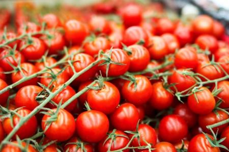 fresh cherry tomato in box in supermarket Stock Photo - 16476729