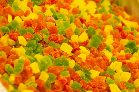 Turkish delight in various colors as background Stock Photo