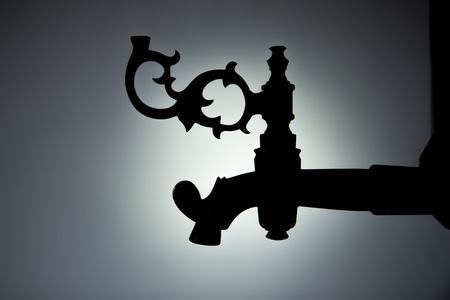 bronze handle on the old samovar