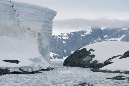 Nature and landscapes of Antarctic.Climatic and atmospheric changes. 版權商用圖片