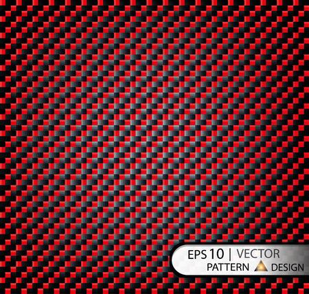 ベクトル パターン シームレスな炭素繊維質のフィルムの生産のためのマスクの下で赤い。EPS10