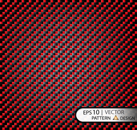 Vectorpatroon naadloze koolstofvezel rood onder masker voor de productie van film met een textuur. EPS10