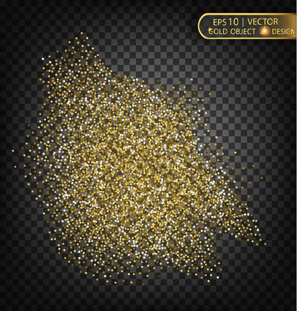 golddust: Gold sparkles on a transparent background. Gold background with sparkles. Vector gold placard for registration cards, vip, exclusive, certificate, gift, luxury, voucher, shop, gift, shopping.