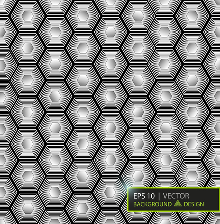 Virtual futuristic user interface of hexes. Vector illustration.