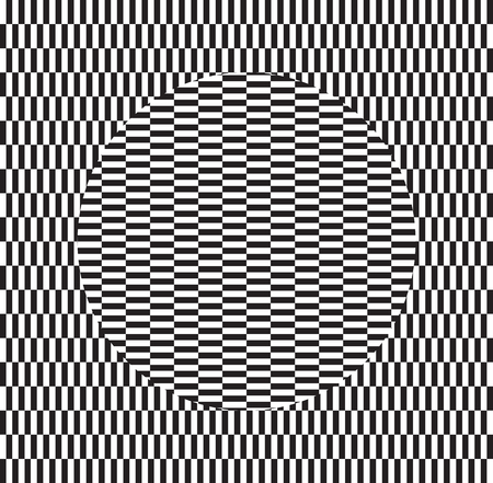 Optical illusion of torsion and rotation movement. Dynamic effect. Vector art.