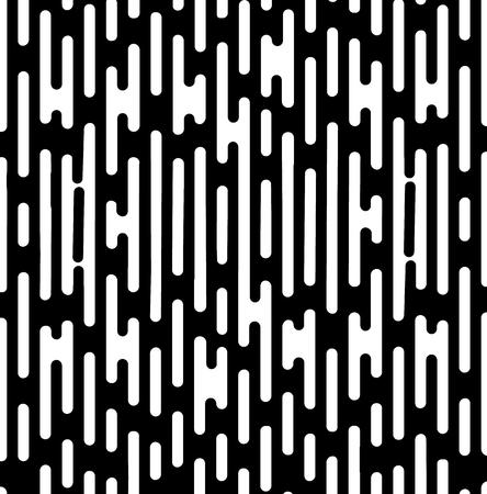 ベクトル ハーフトーンへの移行の抽象的な壁紙パターン。シームレスな黒と白の不規則な丸みを帯びた線の背景モダンなフラット web サイトのデザイン。 写真素材 - 89505965