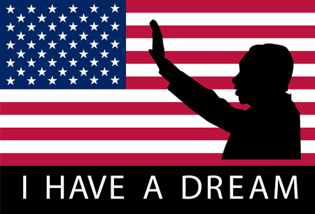 Martin luther king day. I have a dream. Vector illustration Vettoriali