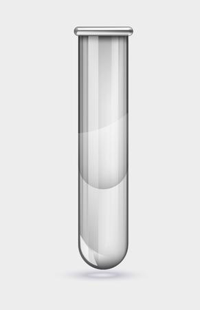 Illustration of scientific glassware, test tubes. Vector illustration on transparent background. Illustration