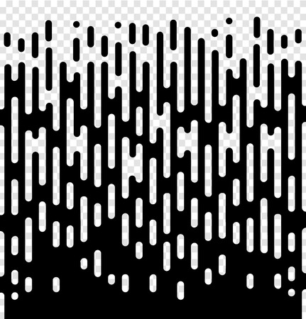 Vector halftone transition abstract wallpaper pattern. Seamless black and white irregular rounded lines background for modern flat web site design. Illustration