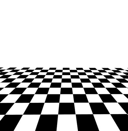 Black and white checker. 3d rendered image Illustration