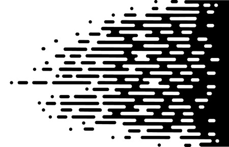 Vector Halftone Transition Abstract Wallpaper .Black And White Irregular Rounded Lines Background for modern flat web site design