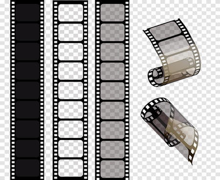 Set of vector film strips .Vector illustration of 10 EPS. Ilustração