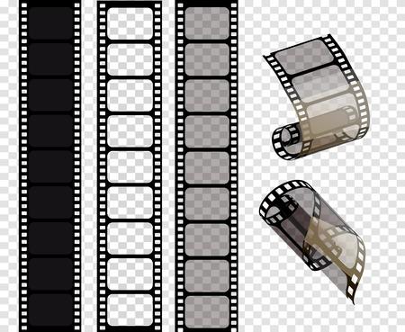 Zestaw pasków filmowych wektor. Ilustracja wektorowa 10 eps Ilustracje wektorowe