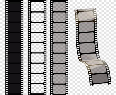 Set of vector film strips .