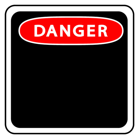 Danger sign template on a white background. vector illustration