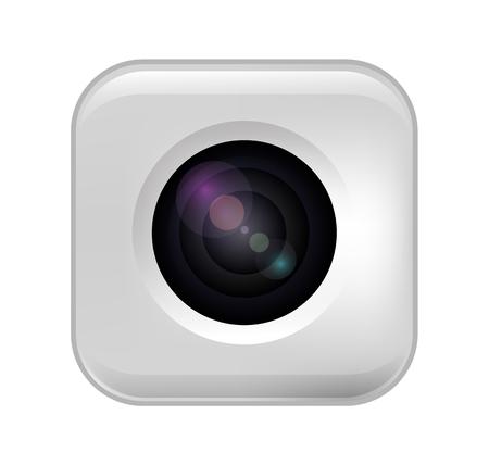 camera photo lens, vector illustration on a transparent background.