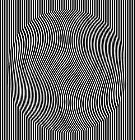Optical illusion effect. Geometric tile in menfis pop art style. Vector illusive background, texture. Futuristic element, technologic design 向量圖像