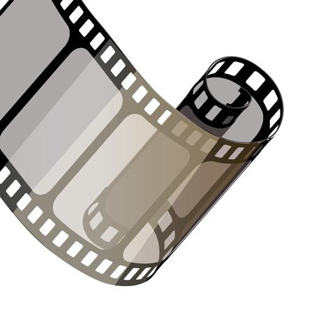 Set of vector film strips .Vector illustration of 10 EPS.stampunk style.