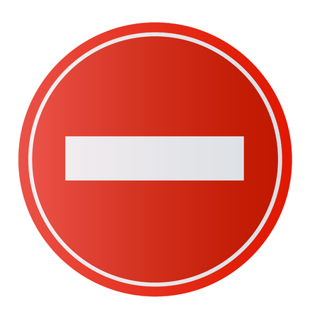 Stop Sign . No entry Sign Dont do it. Vector illustration EPS10