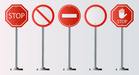 set of prohibiting sign. signs of stop on white background. Vector illustration EPS10