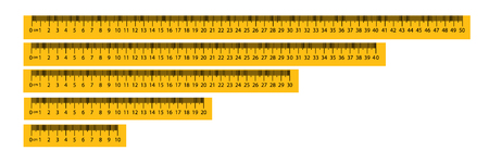 Measure Tape ruler metric measurement. Metric ruler. metric vector ruler with yellow and black color. Vector illustration EPS10